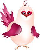 Pink happy bird — Stock Photo