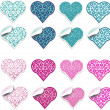 Blue and pink hearts labels — Stock Photo #52805405