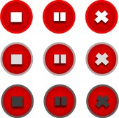 Stop and pause icons — Stock Photo