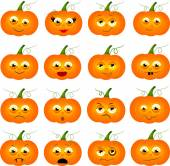 Pumpkins with faces — Stock Photo