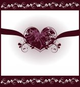 Hearts ornaments background card — Stock Photo
