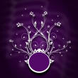 Floral background with ornaments in dark purple — Stock Photo #54382165