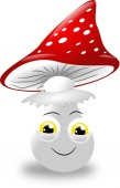 Toadstool with face — Stock Photo