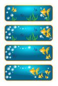 Banners with goldfish — Foto Stock