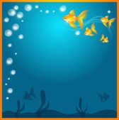 Background with goldfish — Foto Stock
