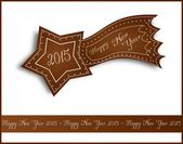 Happy New Year 2015 gingerbread comet — Foto Stock