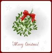 Mistletoe christmas card — Stock Photo