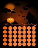 Halloween timetable — Stock Photo