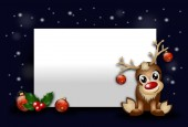 Christmas background with reindeer — Stock Photo
