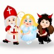 St. Nicholas group — Stock Photo #57995207