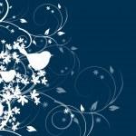 Blue dark background with birds — Stock Photo #60591293
