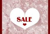 Valentine Sale — Stock Photo