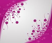 Pink abstract background with floral ornaments — Stock Photo