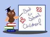 Back to School Children — Stock Vector