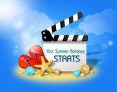 Summer Film flap greeting — Stock fotografie