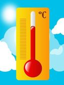 Summer thermometer — Stock Photo