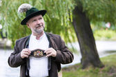 Portrait of a bavarian man — Stock Photo