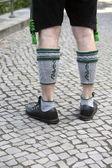 Legs of bavarian man — Stock Photo