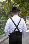 Backside of bavarian man — Stock Photo