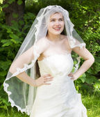 Young bride with braces — Stock Photo
