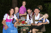 Bavarian family in the park — Stock Photo