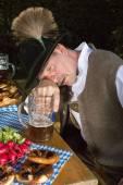 Drunk bavarian man — Stock Photo