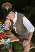 Drunk bavarian man — Stock Photo