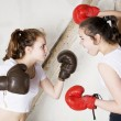 Постер, плакат: Two girls as boxers