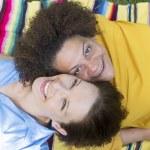 Two woman lying on blanket — Stock Photo #54446117