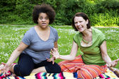 Angry women in park  — Stock Photo