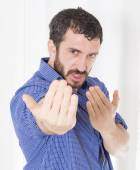 Man being angry — Stock Photo