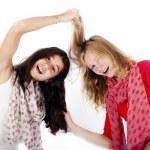 Girlfriends fighting — Stock Photo #54467465