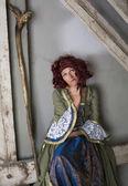 Kvinna klädd som en häxa — Stockfoto