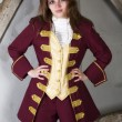 Girl dressed as a prince — Stock Photo #54526375