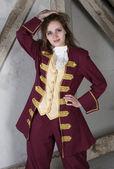 Young woman dressed as a prince — Zdjęcie stockowe