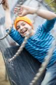 Jongen op Speeltuin — Stockfoto