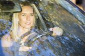 Woman driving — Stock Photo