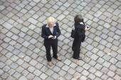Bird's-eye view of two businesswomen — Stock Photo