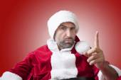 Portrait of an upset Santa Claus — Stock Photo