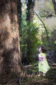 Little girl dressed as a fairy — Stock Photo