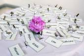 Bunch of nametags — Stock Photo