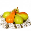 Ripe pears with a measuring tape — Stock Photo #54411241