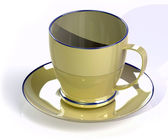 Coffee cup and saucer — Stock Photo