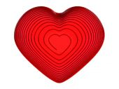 Red wire heart — Stock Photo