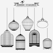 Bird cages set — Stock Vector