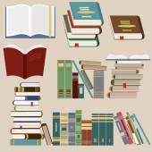 Book Icons Set - Vector — Stock Vector