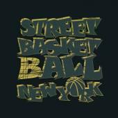 Basketball t-shirt graphic design. New York — Stock Vector