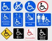 Handicap Symbol Graphic - vector illustration — Stock Vector