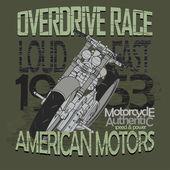 Motorcycle Racing t-shirt - vector — Vetor de Stock