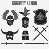 Knightly armor — Stock Vector